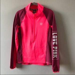 Victoria's Secret PINK Ultimate Half Zip S Pink
